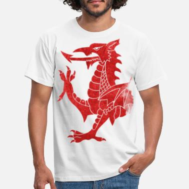 Welsh Dragon Welsh Dragon Rampant - Men's T-Shirt