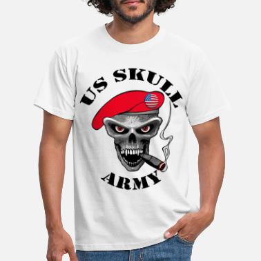 Army us skull army design - T-shirt Homme