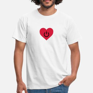 Relationship Couples Wedding Couple Married Engaged power of love v2 - Men's T-Shirt