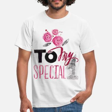 Special Number To my special number 1 valentine - Men's T-Shirt