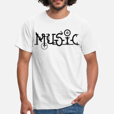 Alternative Music Musik Electro Dance Font ART Motiv Nerd Geek - Männer T-Shirt
