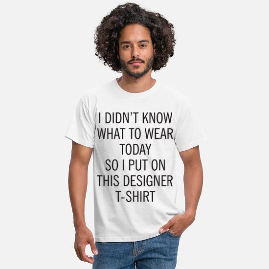 Oversize T-Shirts - Oversized Quote Graphic - Men's T-Shirt white