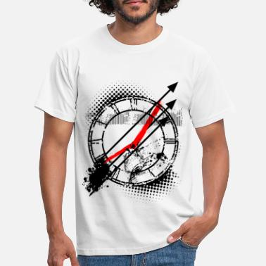 Clock Tattoo Style Clock Face Clock - T-shirt herr