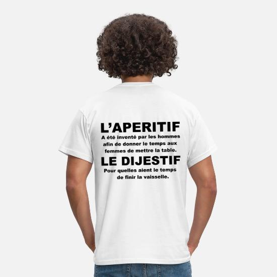 Rugby T-shirts - rugby apero - T-shirt Homme blanc