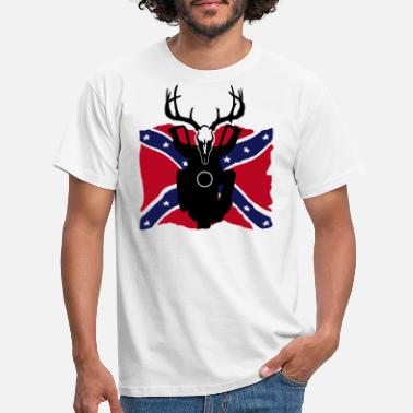 Rockabilly rockabilly rebel flag biker - Männer T-Shirt