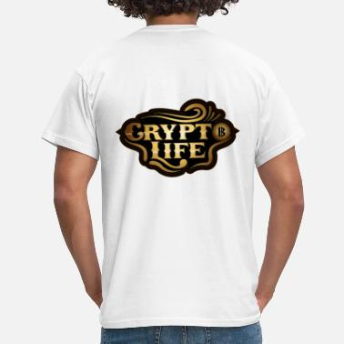 Bankkrise Blockchain Bitcoin - Crypto Life - T-shirt mænd