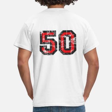 50th Birthday Number 50 Fifty 50th Birthday Design - Men's T-Shirt