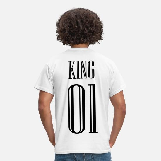 King Queen T-shirts - KING QUEEN partner shirt - T-shirt mænd hvid