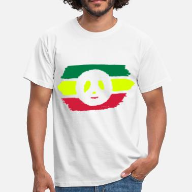 Peace-and-love-rasta Vert Jaune Rouge - Peace and Love - T-shirt Homme