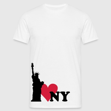 I love New York - NY - Mannen T-shirt