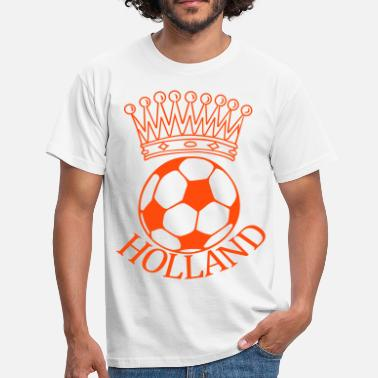 Holland voetbal kroon - Mannen T-shirt