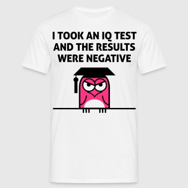 My IQ result was negative! - Men's T-Shirt