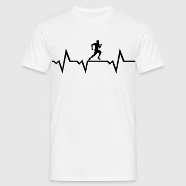 Running Man & Heartbeat - Mannen T-shirt