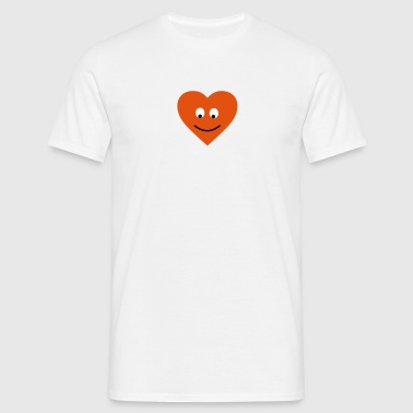 heart face - Men's T-Shirt