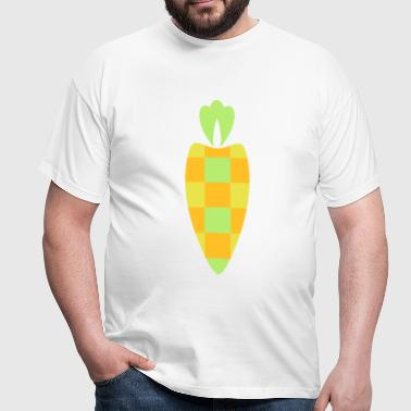 A checkered carrot - Men's T-Shirt