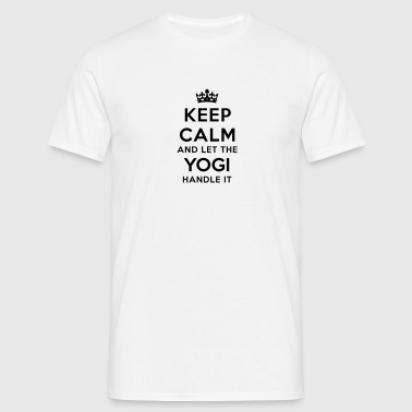 keep calm let yogi handle it - Men's T-Shirt