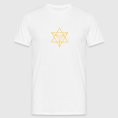 merkaba - flower of life - Männer T-Shirt