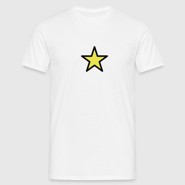 star outline 2c - Männer T-Shirt