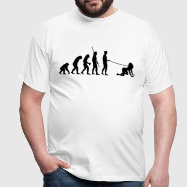 Evolution man goes walkies  - Men's T-Shirt