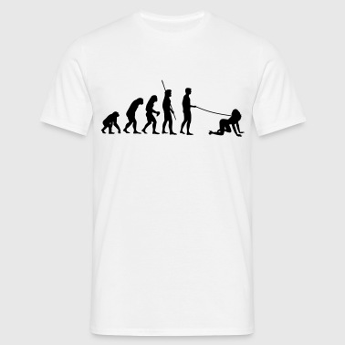 Evolution man går Walkies  - T-shirt herr