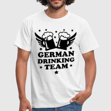 German Drinking team Mass Bier Beer Party hombres  - Camiseta hombre