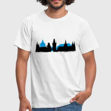 Prague Skyline - T-shirt Homme