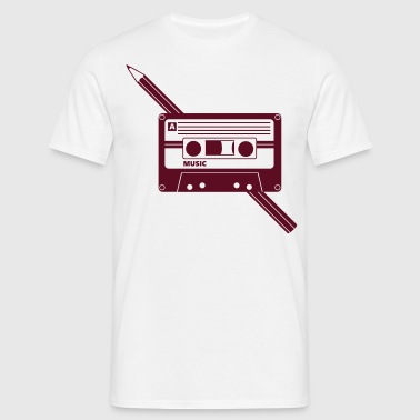 Kassette Stift Audio Tape Pencil - T-shirt herr