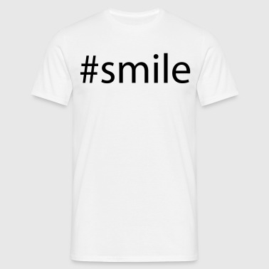 #smile - T-skjorte for menn