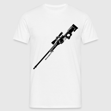 AWP Rifle Black - Mannen T-shirt
