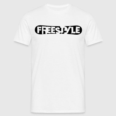 Freestyle Snowboard Logo - Men's T-Shirt