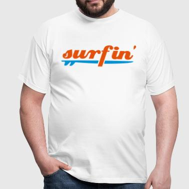 surfin surfboard two colours - Men's T-Shirt
