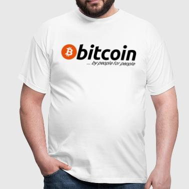Bitcoin - by people for people - Männer T-Shirt