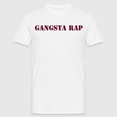 gangsta rap - T-skjorte for menn