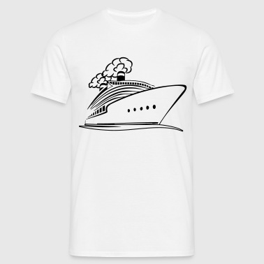 Steam ship fartyget Aotearoa - T-shirt herr