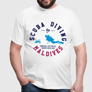 MALDIVES SCUBA DIVING - Männer T-Shirt