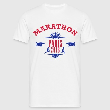 marathon_emblem_2016_paris - Men's T-Shirt