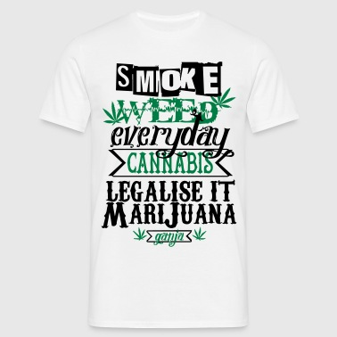 cannabis front - T-shirt Homme