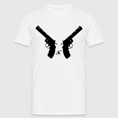 Two Revolvers - T-shirt herr