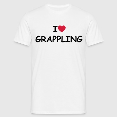 I love/heart Grappling - Männer T-Shirt