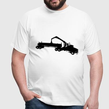 forestry truck truck - Men's T-Shirt