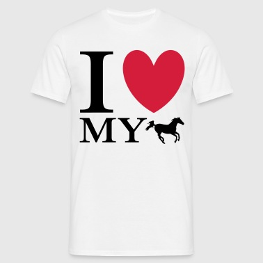 Love My Horse - T-shirt herr