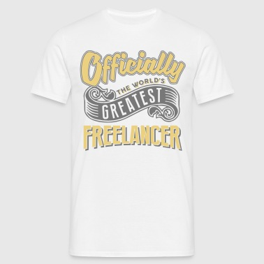 Officially the worlds greatest freelance - Men's T-Shirt