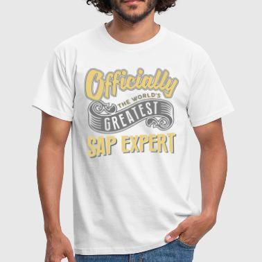 Officially greatest sap expert worlds - Men's T-Shirt