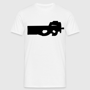 gun rifle pistol weapon military m16 - Camiseta hombre