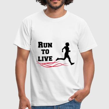 run to live - Männer T-Shirt