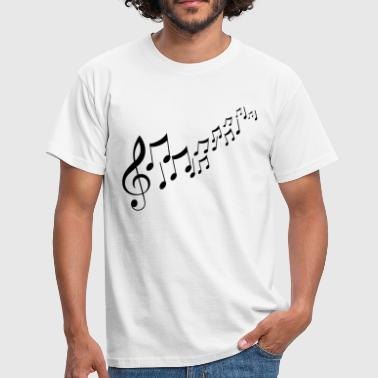 Music Notes Musik Noten - Männer T-Shirt