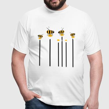 growing_flowers_with_bees - Männer T-Shirt