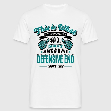 defensive end world no1 most awesome cop - Herre-T-shirt