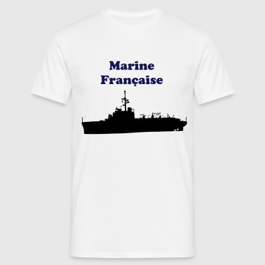 bateau navire militaire porte helicoptere - T-shirt Homme