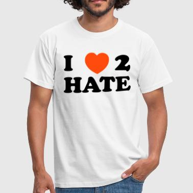 Erotic Slogan i, love, to, hate, my, loves, hate, pain, heart, friend, friend, romantically, love, erotism, sex, hearts, in love, wedding, marries, pair, marriage, affair, faithful, saying, text, slogan, ny, new, york  - Men's T-Shirt